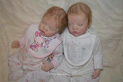 Bonnie Brown twin A and B reborn baby dolls  twins boy and girl
