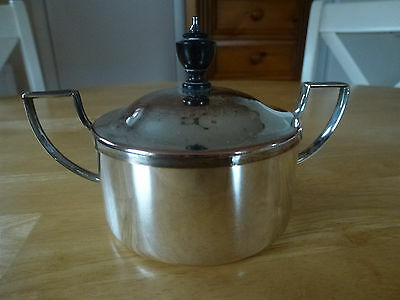 Silver Plated Sugar Bowl With Lid