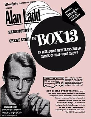 BOX 13 Complete Set - OTR - Old Time Radio Show- Alan Ladd - MP3 CD