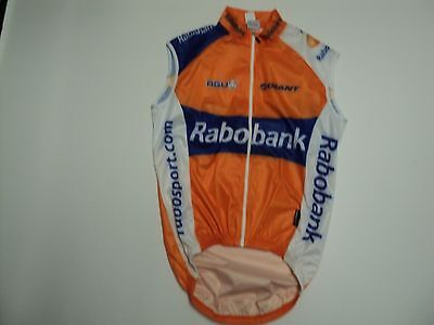 Cycling Rain Vest Rabobank New! 1-XS