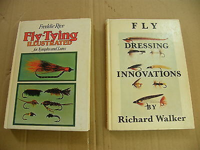 """2 Fly Fishing Fly-Tying books """"FLY DRESSING INNOVATIONS"""" etc.."""
