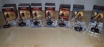 Lord of the Rings & Hobbit: Unexpected Journey Heroclix 7 Rare Miniature Figures