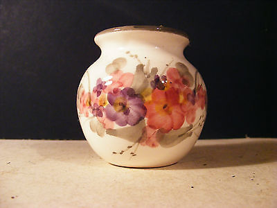Small Unmarked Floral Pot