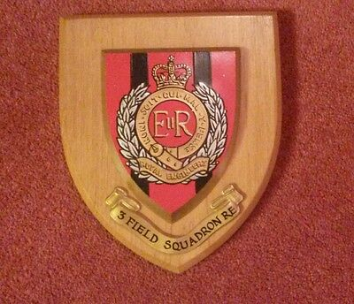 3Rd Field Squadron Royal Engineers Plaque