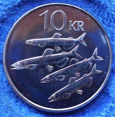 """ICELAND - 10 kronur 2008 """"capelins"""" KM# 29.1a Monetary Reform - Edelweiss Coins"""