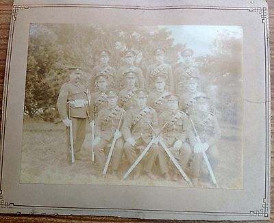 Soldier Group Regiment Mounted Photo COLLECTABLE WWI?