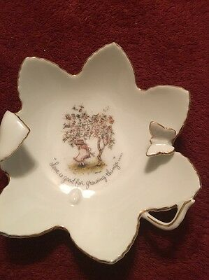 """Vintage Holly Hobbie Porcelain """"Love Is Good For Growing Things"""" Butterfly"""
