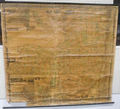 Large 1860 Pearsall Smith's The State New York Linen Back Scroll Wall... Lot 165