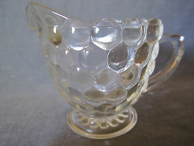 Vintage Bubble Glass Cream Pitcher by Anchor Hocking