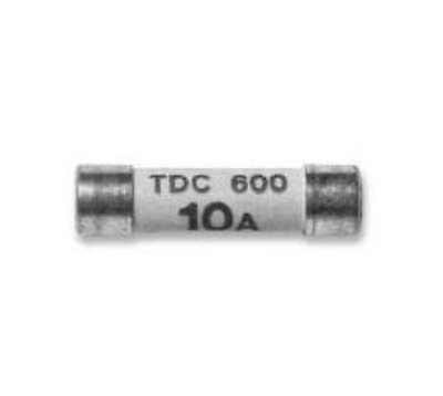COOPER BUSSMANN TDC600-10A FUSE, CARTRIDGE, 10A, 6.3X25.4MM, FAST ACTING (5pc)