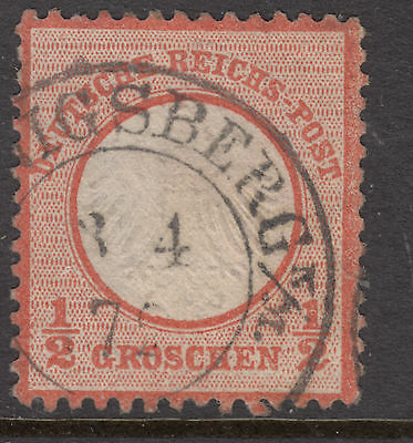 GERMANY 1872 SG 3 1/2 Gr Type A  Nice Cancel VERY FINE USED..