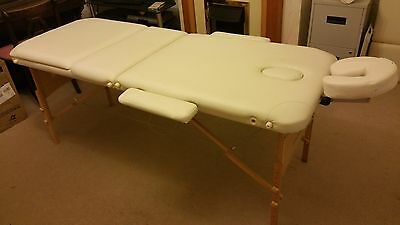 FeelGoodUK White Lightweight Portable Wooden Massage Table Couch Bed ??kg