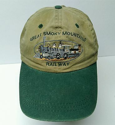 Great Smoky Mountains Railroad Railway train logo adjustable strapback hat cap