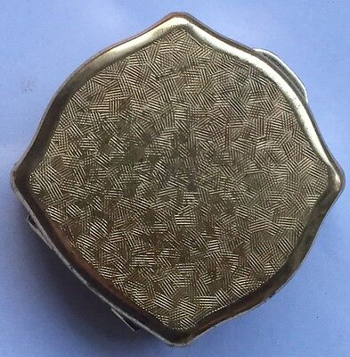 Vintage Pill Box Gold Coloured Finish, Stratton, Made In England