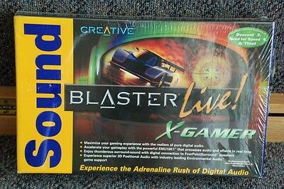 Creative Sound Blaster PCI Live! X-Gamer edition with 3 games New Old Stock NOS