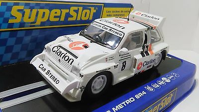 """Slot 1:32 Scalextric Superslot  C3306 - Mg Metro 6R4 """"clarion"""" Mint Boxed"""