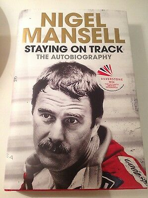 Nigel Mansell Staying on Track The Autobiography Genuine Signed Hardback