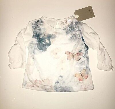 Zara Baby Girl Floral Embroidered Blouse, 12-18m Brand New With Tags