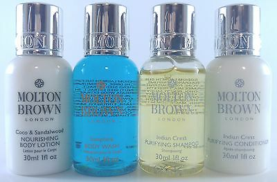 New Molton Brown - Body Wash, Shampoo, Conditioner & Lotion 4 Pc Travel Set