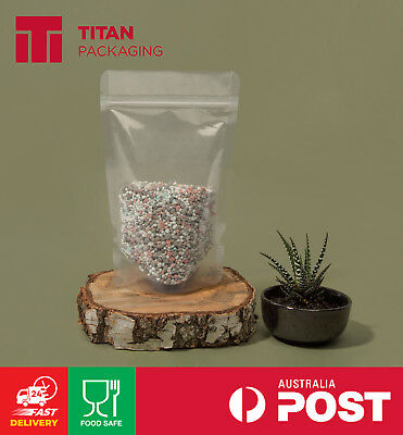 Clear Stand Up Pouches 80g 100g 150g 250g 500g 1kg 3kg Resealable Zip Notch