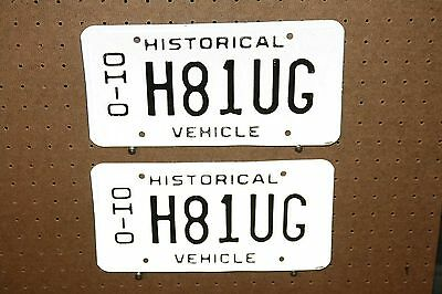 Ohio - Pair - Historical Vehicle - H81Ug
