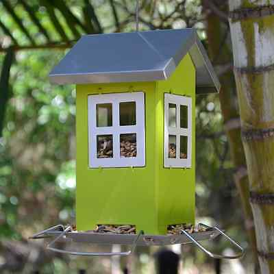 Hanging Green Classic Cottage Bird Feeder for wild garden birds of Australia