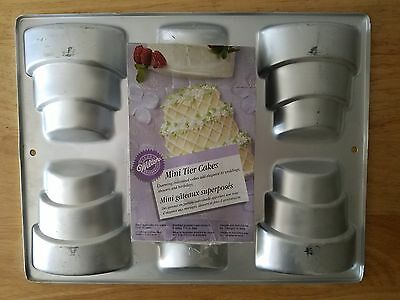 Wilton Mini Tier Cakes cake pan. makes 6 at once! Great for showers weddings +++