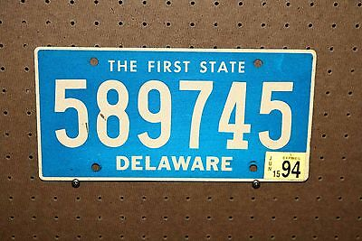 1994 - Delaware - License Plate - 589745 - The First State