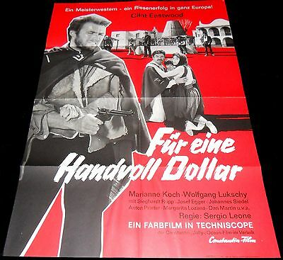 1964 A Fisful Of Dollars ORIGINAL German 65' 1sh A1 POSTER Sergio Leone