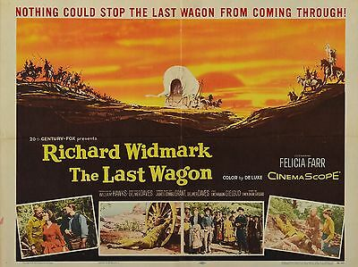 """The Last Wagon 16"""" x 12"""" Reproduction Movie Poster Photograph"""