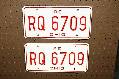 Pair - Re - Ohio - License Plates - Rq 6709