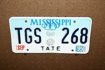 1995 - Mississippi - License Plate - Tgs 268 - Tate County