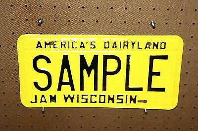 1980 - Wisconsin - Sample - License Plate