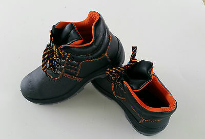 Safety work boots Leather steel cap and steel midsole plate, Non slip