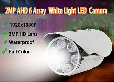 2.0MP 1080P HD-AHD  6 Array White LED  2.8/4/6/8/12/16/25MM IR-CUT CCTV Wapterpr