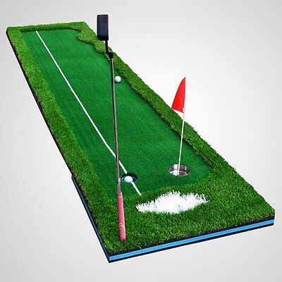 New Golf Putting Green Portable Home Office Golfing Equipment Training Mat Aid