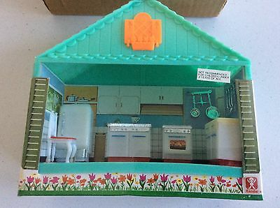 """Vintage Bandai """"MY DREAM HOUSE"""" Dollhouse Furniture KITCHEN- new old stock!"""
