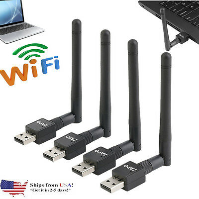4X Mini USB WiFi 150Mbps Wireless Adapter 150M Computer LAN Card SL-1506N 802.11