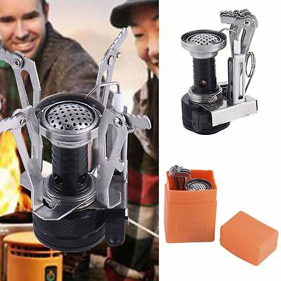 Mini Portable Backpack Outdoor Gas Butane Folded Camp Hiking Picnic Stove Burner