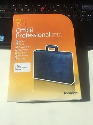 Microsoft Office 2010 Professional DVD Sealed Box 32 & 64 bit With Key
