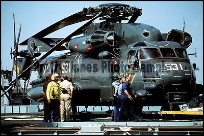USN RH-53 Sea Stallion HM-14 USS Shreveport 1984 8x12 Photo