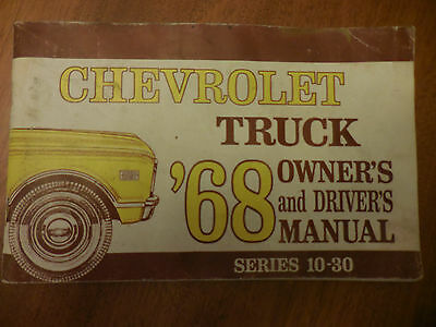 1968 chevy truck owners manual