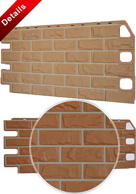 Faux Rustic Brick Wall Panels House Building Exterior Facade Cladding Wall Decor