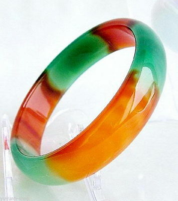 Wholesale GENUINE Asia Red / Green Natural Jade Bangle Bracelet Inside 66mm-68mm