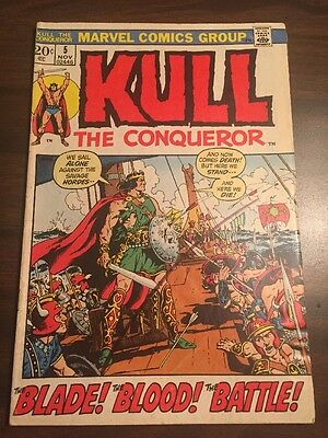 Kull The Conqueror#5 Awesome Condition 7.5(1972) Cool!!