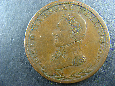 WE-1A2 Halfpenny token 1813 Field Marshal Wellington Canada WEL-32a Breton 969