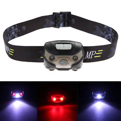 3000LM 2 LED USB Rechargeable Headlamp Outdoor Waterproof Headlight Torch Lamp