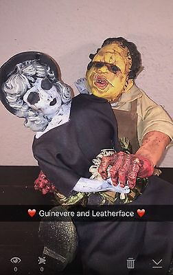 Leatherface Girlfriend Guinevere Creepy Gothic Goth Spooky Witch Horror Doll