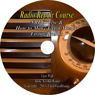 Vintage Radio Repair Course NRI How to Manuals Restore Coils 90 Volumes Books CD