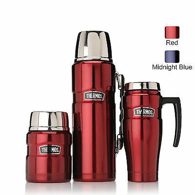 NEW Thermos Stainless King Ultimate 3pc Insulated Set, Food Jar+Travel Mug+Flask